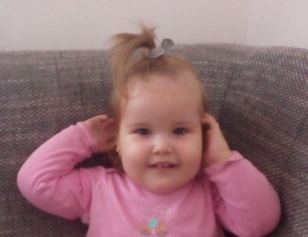 Fotka malej Sofie, ktorej Lidl pomohol vrámci projektu Od začiatku vdobrých rukách