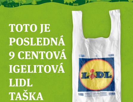 Posledná 9 centová igelitová Lidl taška