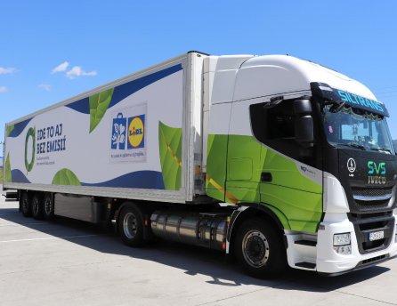 Nové kamióny spoločnosti LIDL na ekologický pohon CNG, ktorý prispieva k ochrane životného prostredia
