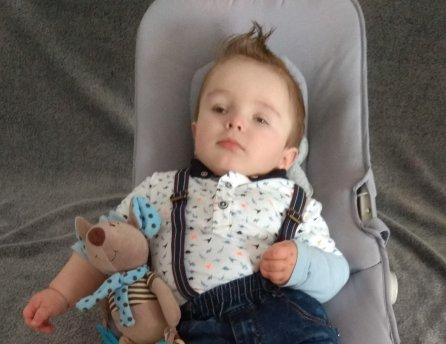 Fotka malého Peťka, ktorému Lidl pomohol vrámci projektu Od začiatku vdobrých rukách
