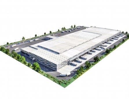 Vizualizácia - najekologickejšie logistické centrum na Slovensku
