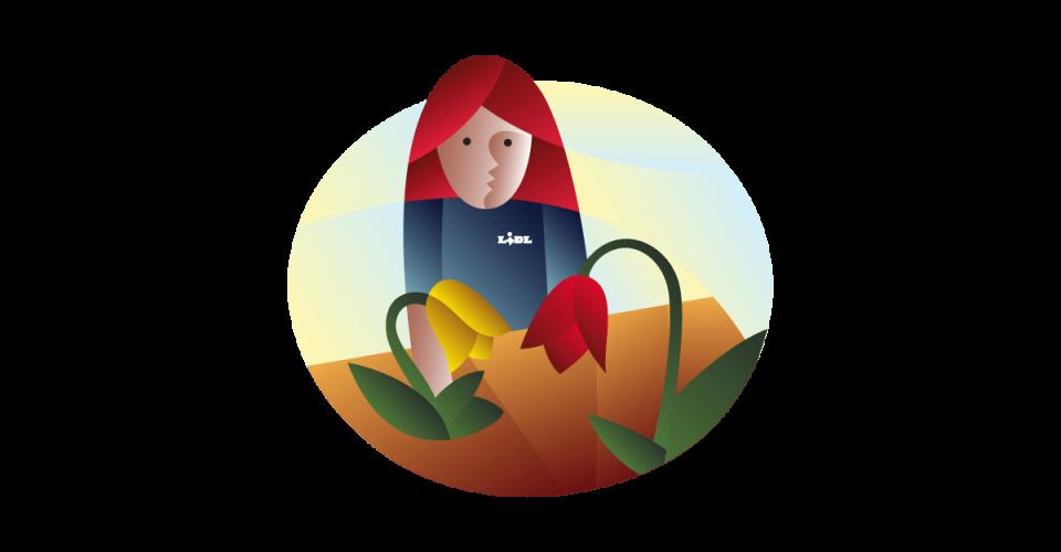 Ilustrácia pre kvety a rastliny