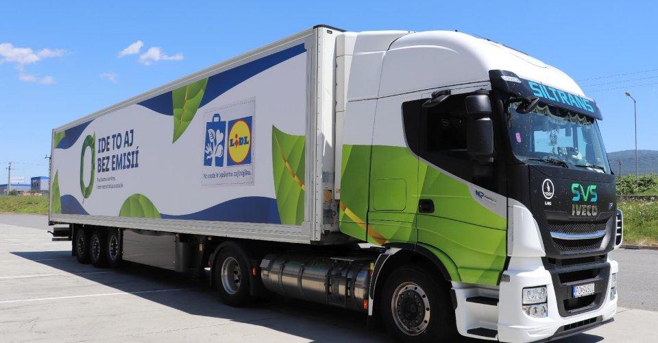 Nové kamióny spoločnosti LIDL naekologický pohon CNG, ktorý prispieva kochrane životného prostredia