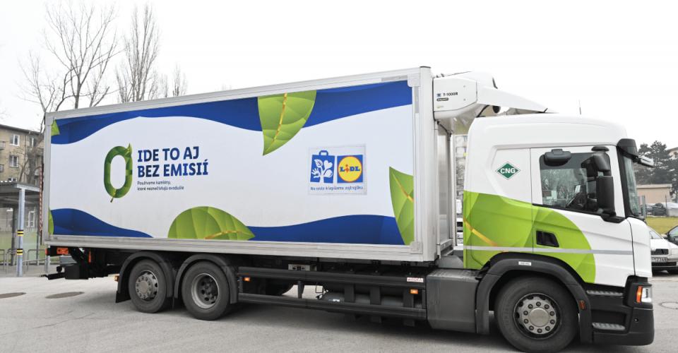 Lidl rozširuje svoj vozový park oďalšie kamióny sCNG pohonom